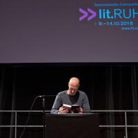 lit.RUHR 2018: Joachim Meyerhoff © Palazzo