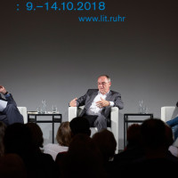lit.RUHR 2018: Fritz Pleitgen, Norbert Walter-Borjans und Kevin Kühnert © Palazzo