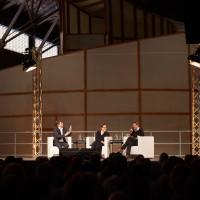 lit.RUHR 2018: Joachim Scholl, Thea Dorn und Robert Habeck © Palazzo