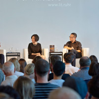 lit.RUHR 2018: Max Kalkhof, Jing Bartz, Cixin Liu und Mark Bremer (v.l.n.r.) © Palazzo