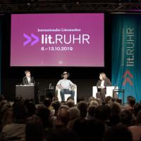 lit.RUHR 2019: Stefan Diekmann, John Strelecky und Anouk Schollähn © plzzo.com/lit.RUHR