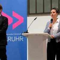 lit.RUHR 2020: Tobias Bock und Eva Schuderer (Programm lit.RUHR) I Fotocredit: Ralf Juergens/ lit.RUHR