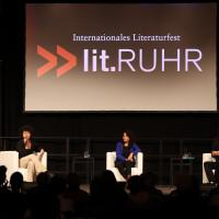 lit.RUHR 2021: Daphne Sagner, Emilia Roig & Aladin El-Mafaalani ©Ast/Juergens