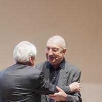 7.10.17: Alexander Kluge (l.) und Georg Baselitz im Museum Folkwang. © KandalowskiGieseler